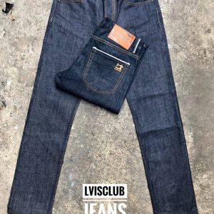 กางเกงยีนส์ชายทรงกระบอกเล็กผ้าดิบ-LS702