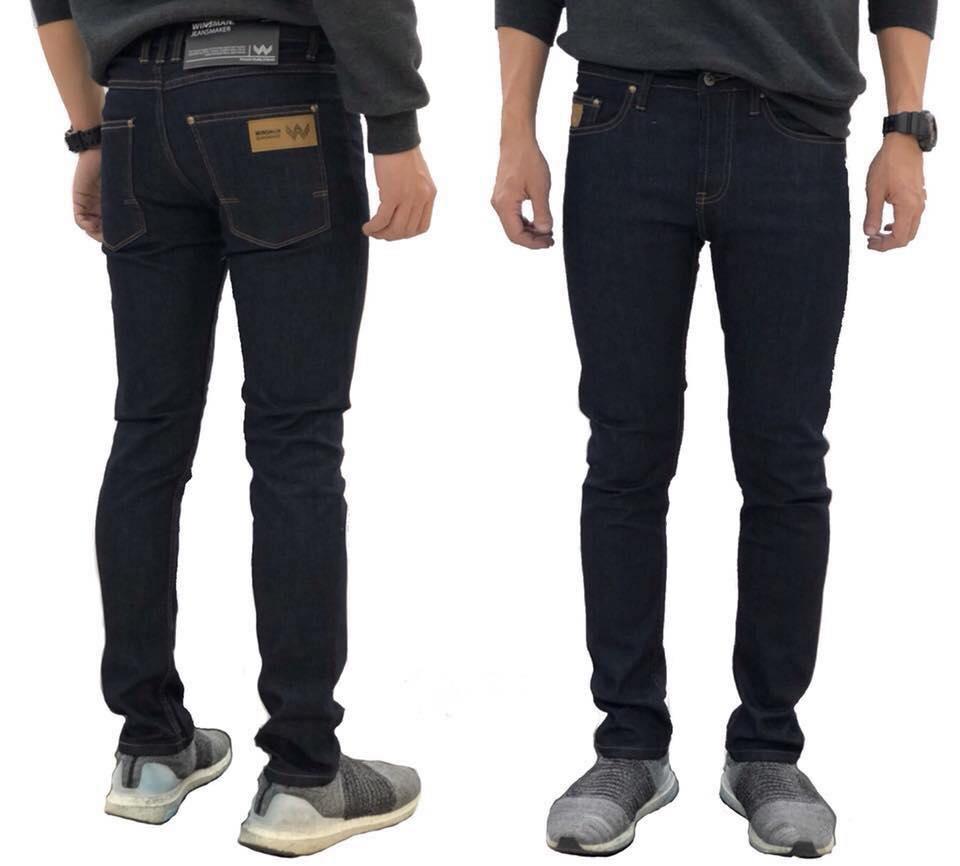 กางเกงยีนส์ชายทรงกระบอกเล็ก ws205