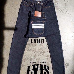 กางเกงยีนส์ชายทรงกระบอกเล็ก-LX101