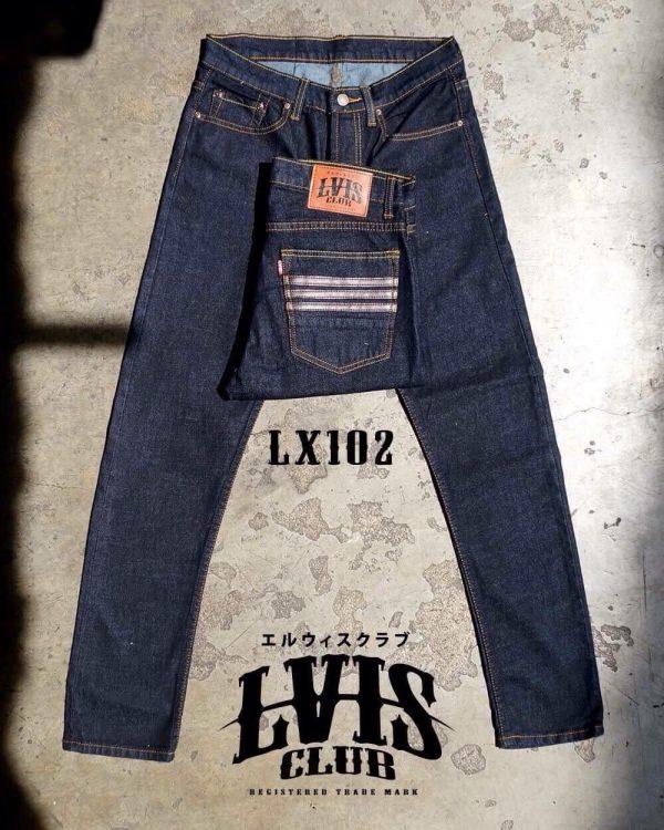 กางเกงยีนส์ชายทรงกระบอกเล็ก- LX102