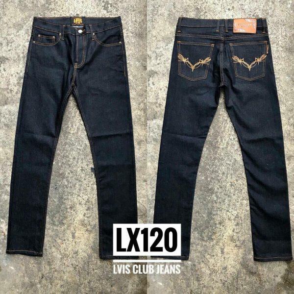 กางเกงยีนส์ชายทรงกระบอกเล็ก-LX120