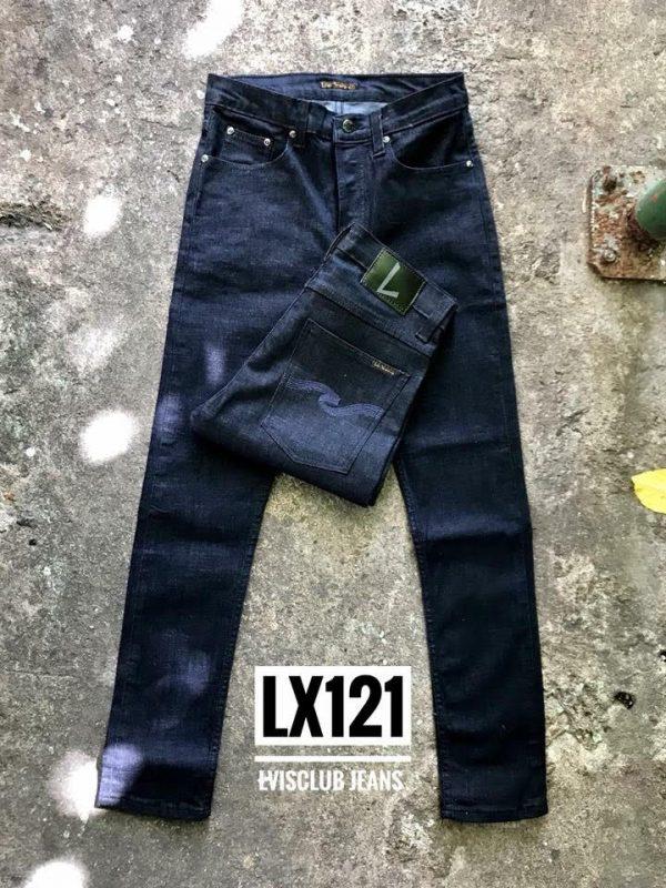 กางเกงยีนส์ชายทรงกระบอกเล็ก- LX121