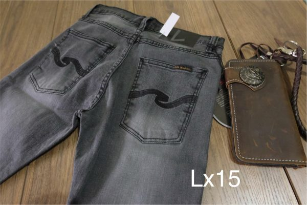 กางเกงยีนส์ชายทรงกระบอกเล็ก-LX15