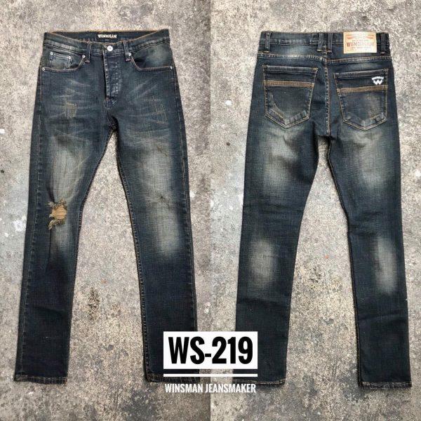 กางเกงยีนส์ชายทรงกระบอกเล็ก-WS219