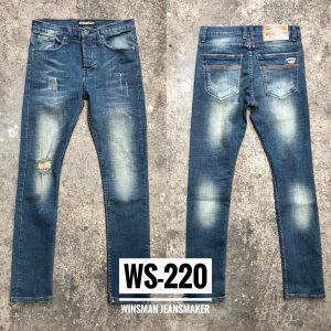 กางเกงยีนส์ชายทรงกระบอกเล็ก-WS220