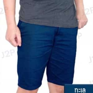 กางเกงขาสั้น สีเขียวทะเล