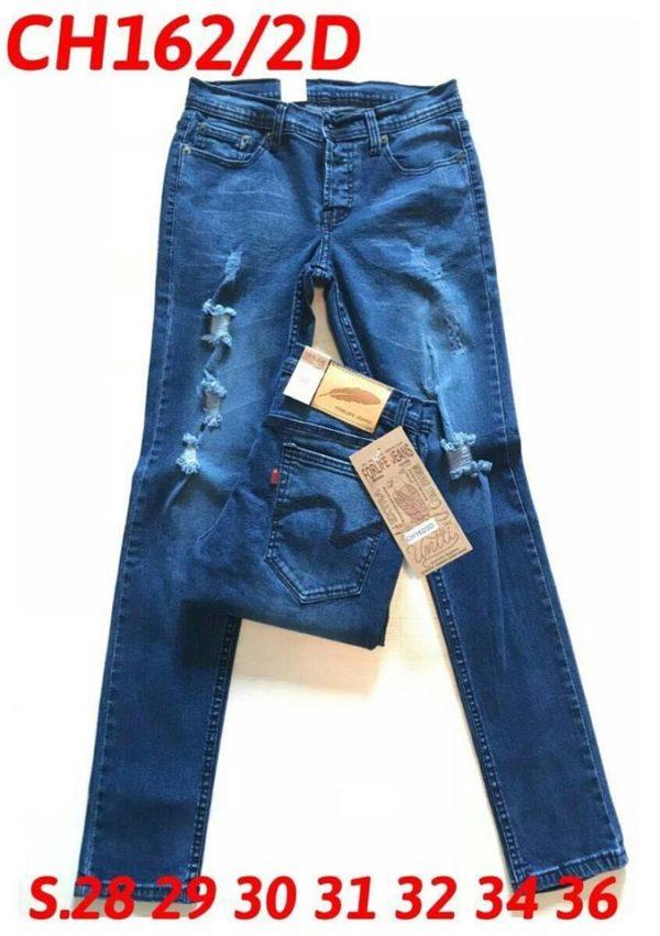 กางเกงยีนส์ชายทรงขาเดฟ Ch162/2D